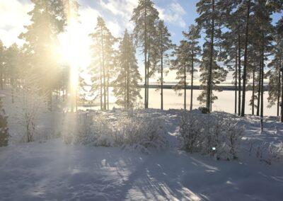 Vinter på Kvarnvägen 48